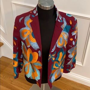 NWT Anthropologie embroidered jacket
